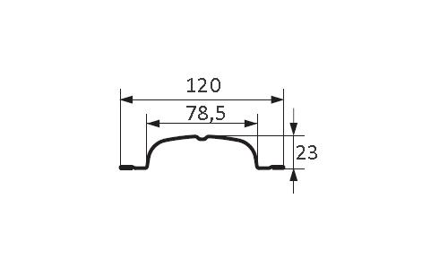 desen tehnic pe șină metalică